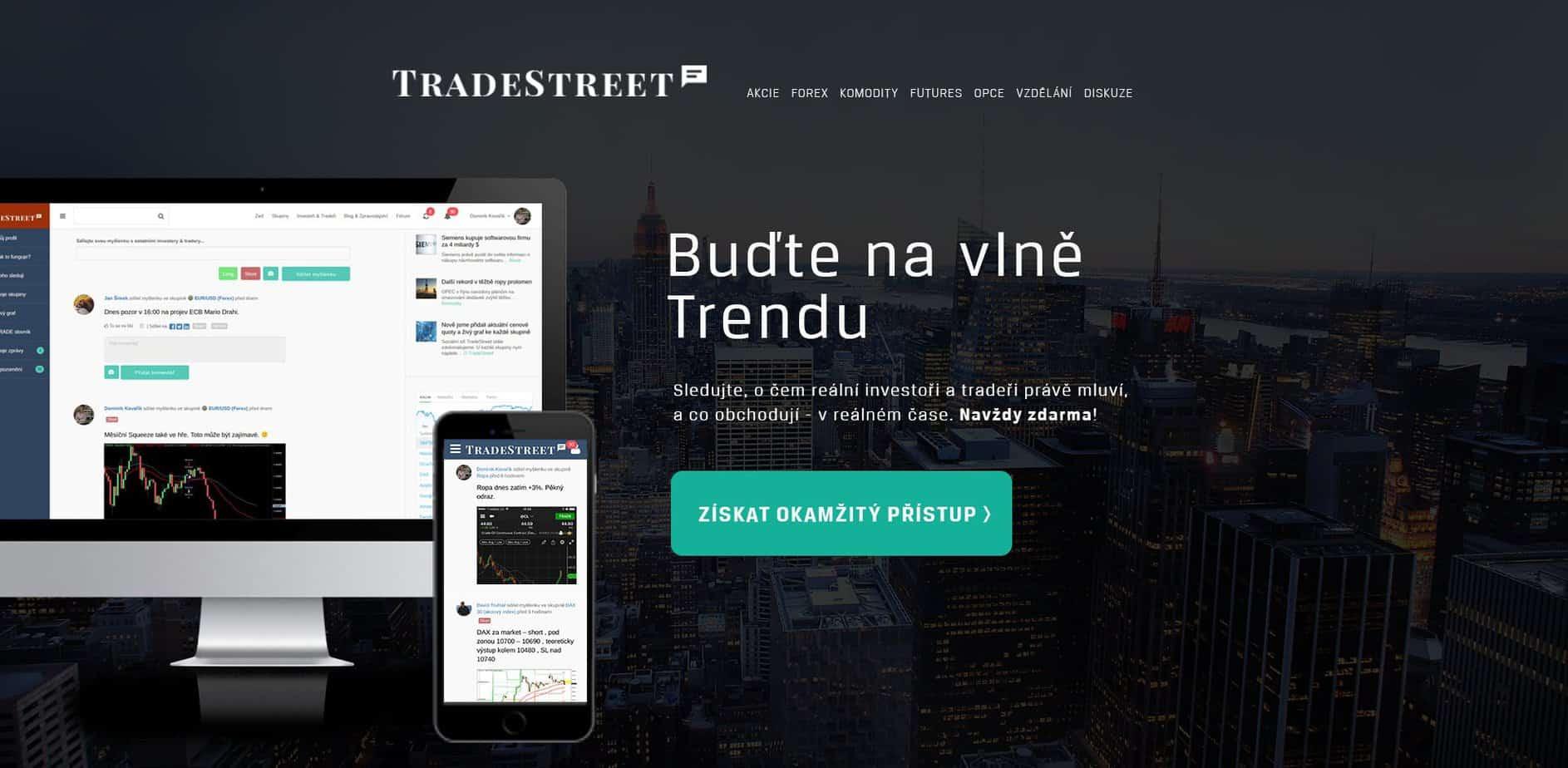 Sledujte mé živé obchody a strategie v reálném čase na TradeStreet