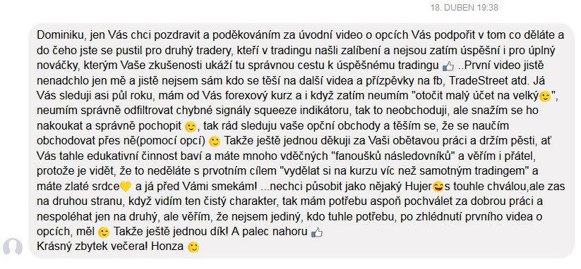 zkušenost recenze Dominik Kovařík trading