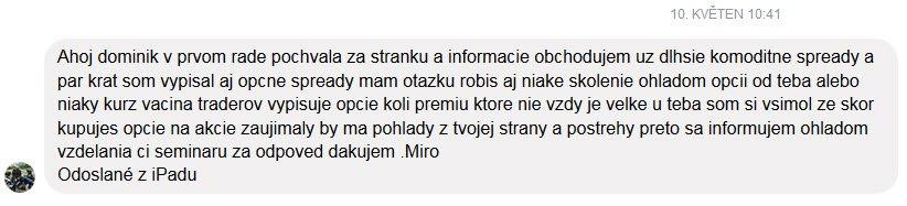 Zkušenost Dominik Kovařík trading