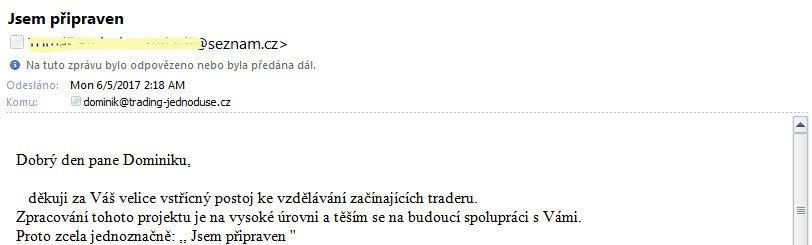 zkušenosti Dominik Kovařík trading