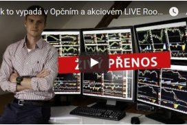 Jak to vypadá v Opčním a akciovém LIVE Roomu Dominika Kovaříka - Živé vysílání z 4.9.2018