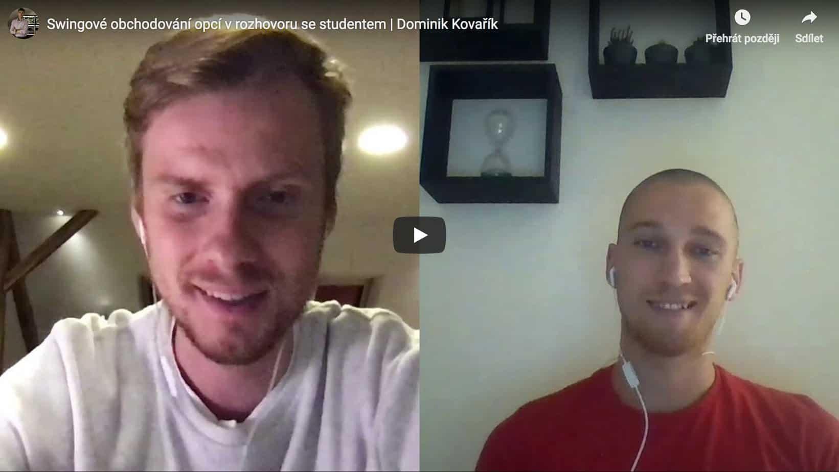 Swingové obchodování opcí v rozhovoru se studentem SpreadMaster tréninku